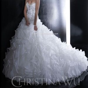 TAKING BEST OFFER Christina Wu Corset Wedding Gown